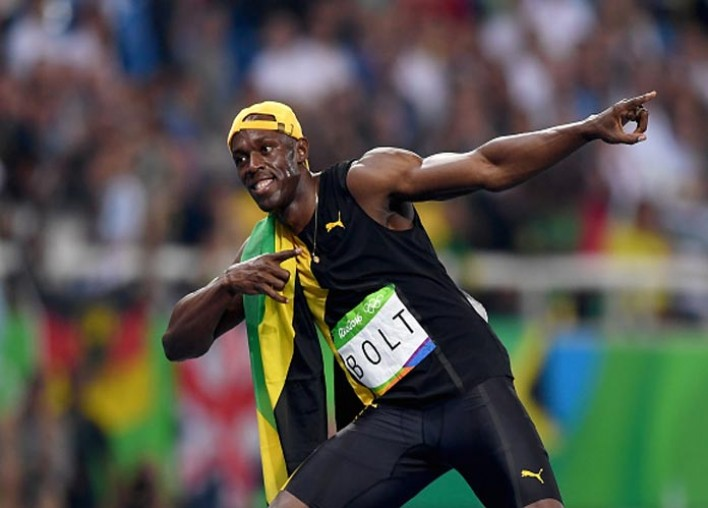Usain Bolt Wins Third Straight 100M Olympic Gold, USA's Justin Gatlin Finishes Second