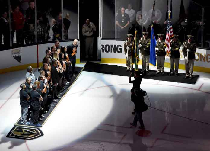Watch: NHL's Vegas Golden Knights Pay Tribute To First Responders, Victims Of Shooting