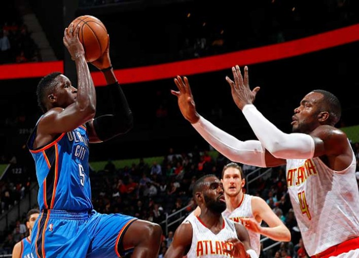 Watch: Victor Oladipo Throws Down Huge Dunk Over Dwight Howard In Thunder's 102-99 Win Vs Hawks