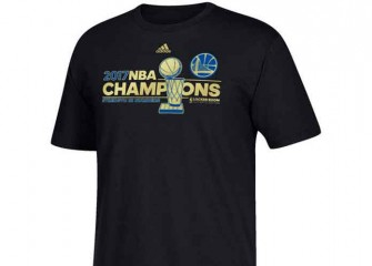 Get The Gear: Golden State Warriors 2017 NBA Champions Black Locker Room T-Shirt