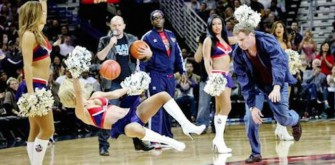 Will Ferrell Beans Cheerleader In Head With Basketball At Pelicans Game