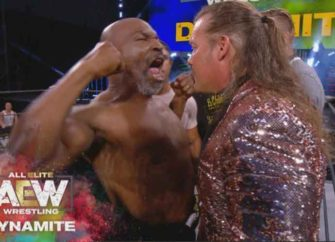 Watch: Mike Tyson Confronts Chris Jericho During AEW Event