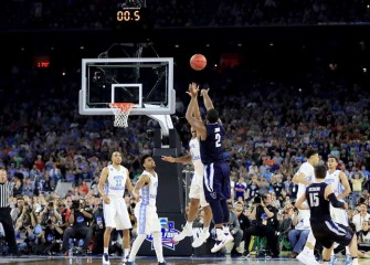 Kris Jenkins Lifts Villanova Over North Carolina 77-74 With Buzzer Beating Three To Capture National Title