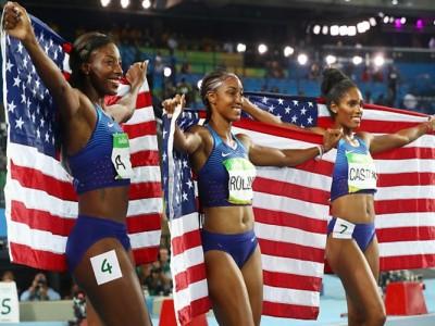 U.S. Women Brianna Rollins, Nia Ali, Kristi Castlin Sweep 100M Hurdles In Rio
